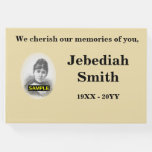 [ Thumbnail: Basic and Subdued Funeral/Memorial Guest Book ]