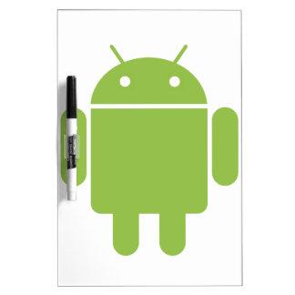 Basic Android OS Robot Dry Erase Whiteboards