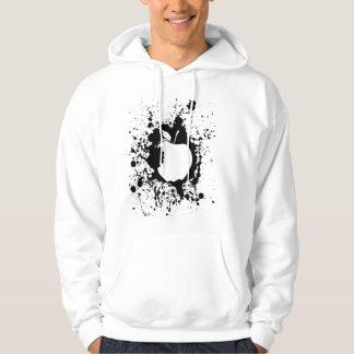 basic apple design hooded pullover