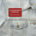 "[ Thumbnail: Basic ""Authorised Visitor"" Name Tag ]"