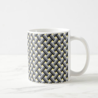 Basic basket weave pattern coffee mug
