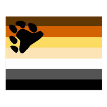 Basic Bear Pride Flag Postcard