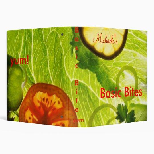 Basic Bites Cook book Binder