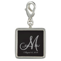 Basic Black 3d Monogram Charms