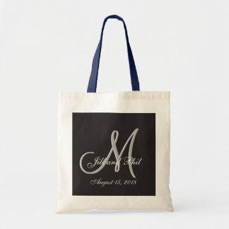 Basic Black 3d Monogram Tote Bag