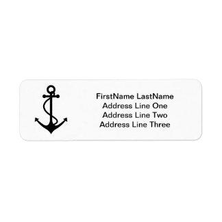 Basic Black Anchor Label