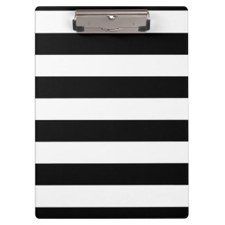 Basic Black and White Stripes Clipboards