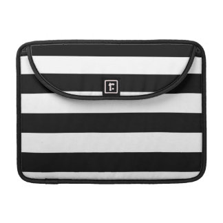 Basic Black and White Stripes Sleeves For MacBook Pro