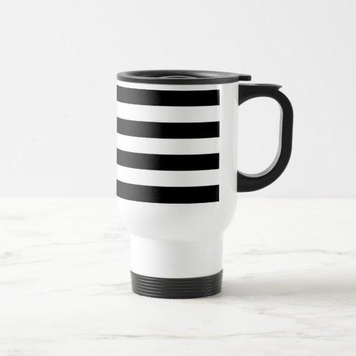 Basic Black and White Stripes Mugs