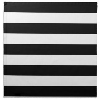 Basic Black and White Stripes Napkins