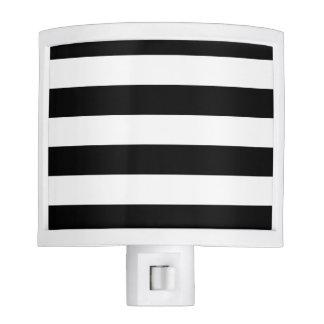 Basic Black and White Stripes Night Light