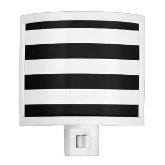 Basic Black and White Stripes Night Lights