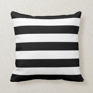 Basic Black and White Stripes Pillows