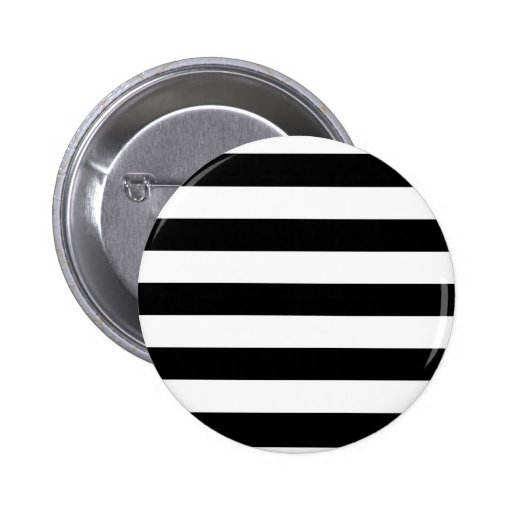 Basic Black and White Stripes Pinback Buttons
