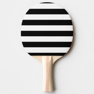 Basic Black and White Stripes Ping Pong Paddle