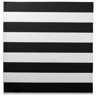 Basic Black and White Stripes Printed Napkin