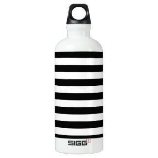 Basic Black and White Stripes SIGG Traveler 0.6L Water Bottle