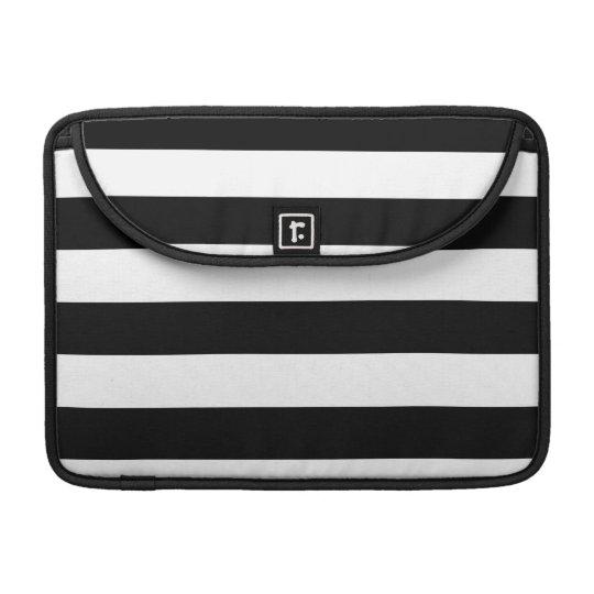 Basic Black and White Stripes Sleeve For MacBooks
