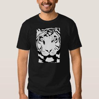 BASIC BLACK AND WHITE TIGER T-SHIRT