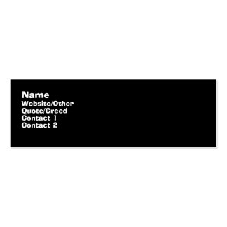 Basic Black Double-Sided Mini Business Cards (Pack Of 20)