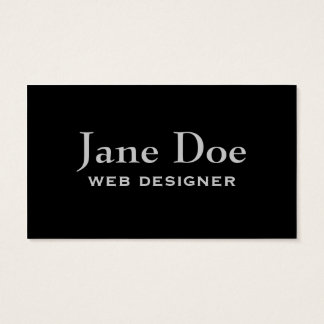 Basic Black Business Cards to Customize