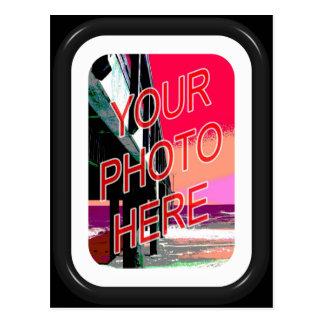 Basic Black frame with mat Postcard