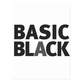Basic Black Series Postcard