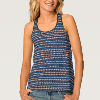 Basic Blue and Pearls Tank Top