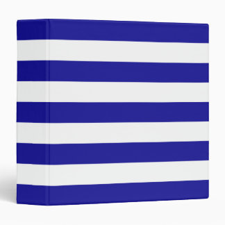 Basic Blue and White Stripes Binder