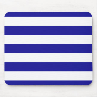 Basic Blue and White Stripes Mouse Pad