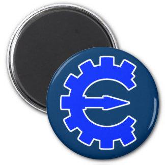 Basic Blue Logo 2 Inch Round Magnet