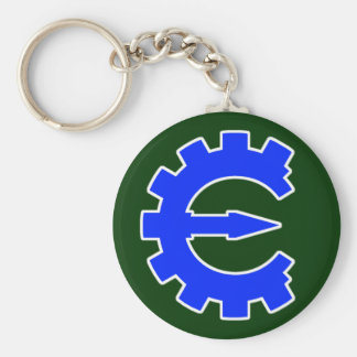 Basic Blue Logo Basic Round Button Keychain