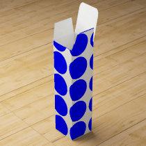 Basic Blue Polka Dot Wine Gift Box