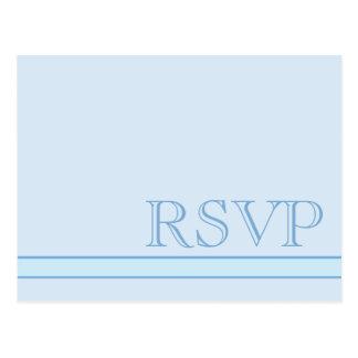 Basic Blue RSVP Postcard