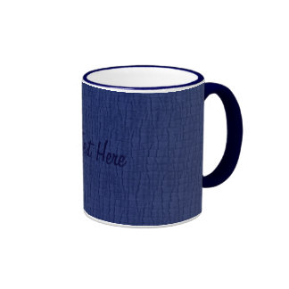 Basic Blue, Your Text Here Mug
