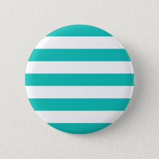 Basic Bluegreen Stripes Pattern Button