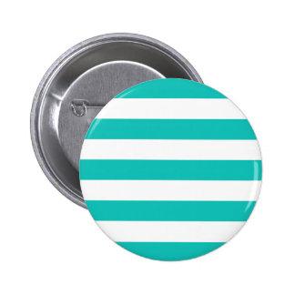 Basic Bluegreen Stripes Pattern Pinback Button