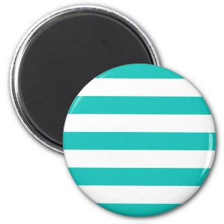 Basic Bluegreen Stripes Pattern Magnet