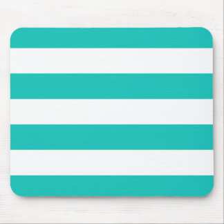 Basic Bluegreen Stripes Pattern Mouse Pad