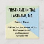 [ Thumbnail: Basic Business Advisor Business Card ]