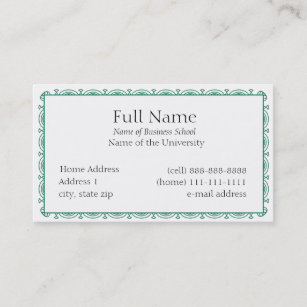Decorative border business cards zazzle basic business card for students or company colourmoves