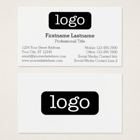 Basic business design logo and contact information business card basic business design logo and contact information business card colourmoves Images
