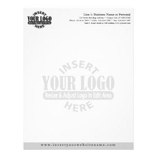 Basic Business Letterhead with WATERMARK