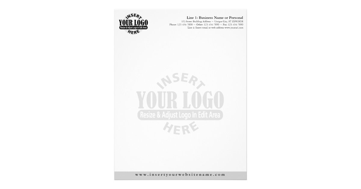 Basic Business Letterhead With Watermark | Zazzle