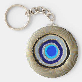 Basic Button Key Chain/ Greek Evil Eye Keychain