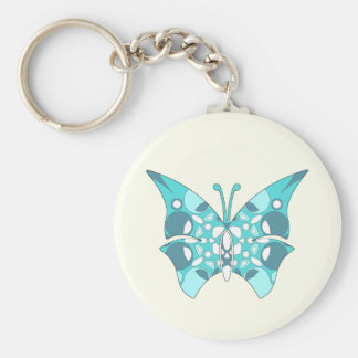 Basic Button Keychain with Pattern