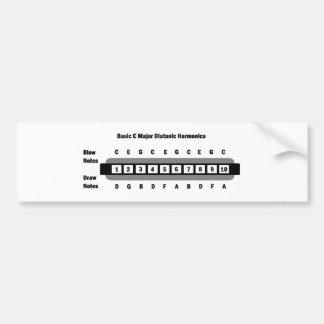Basic C Major Diatonic Harmonica Car Bumper Sticker