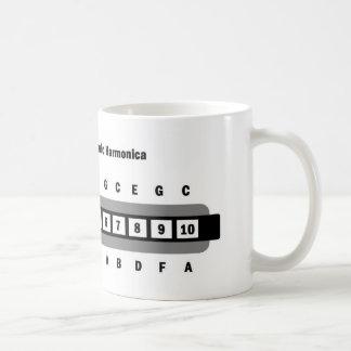 Basic C Major Diatonic Harmonica Coffee Mug