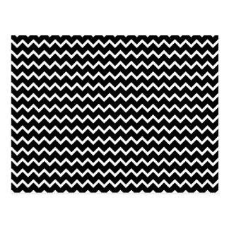 Basic Chevron Pattern in Black and White Postcard