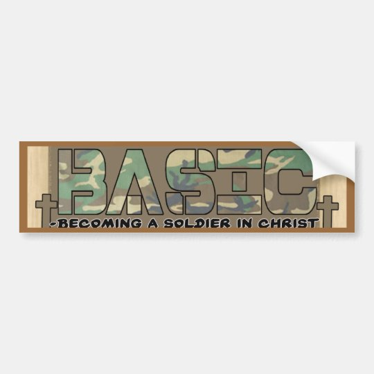 BASIC CHRISTIAN ACRONYM - SOLDIER IN CHRIST BUMPER STICKER